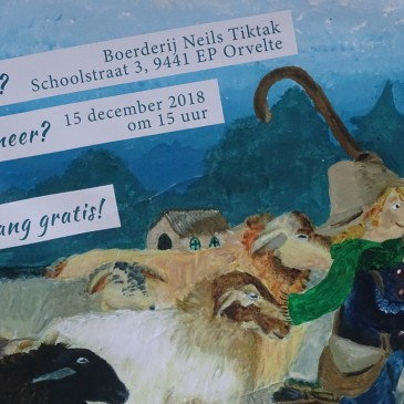 Kinderboek over schaapskudde Orvelte